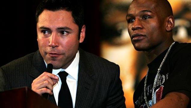 Floyd Mayweather and Oscar De La Hoya
