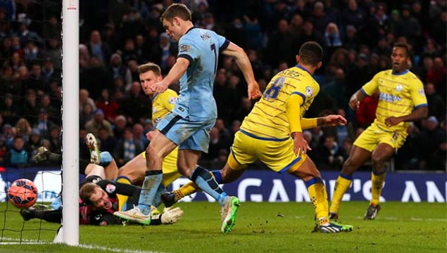 James Milner Man City v Sheffield Wednesday