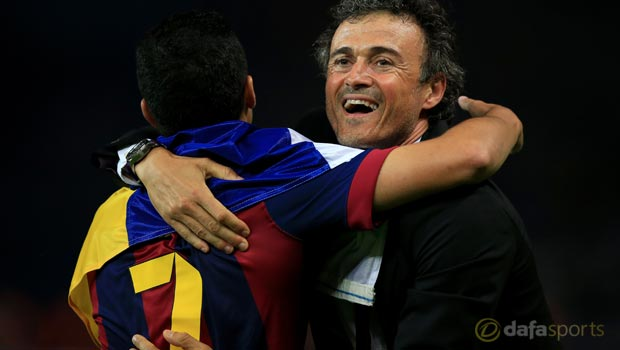 Barcelona-head-coach-Luis-Enrique-and-Pedro (1)