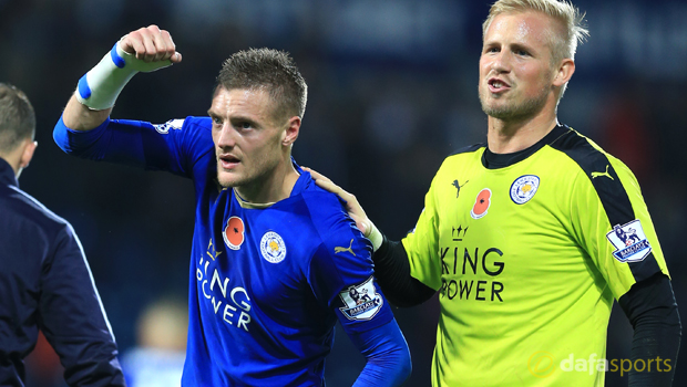 Leicester-City-Kasper-Schmeichel-and-Jamie-Vardy