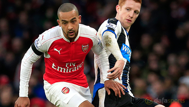 Arsenal-Theo-Walcott-and-Newcastle-United-Jack-Colback