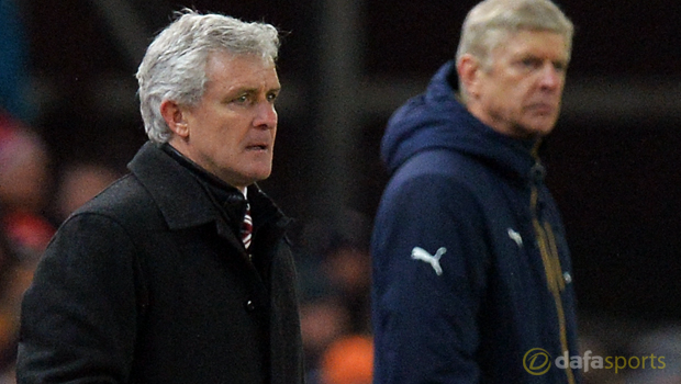 Stoke-City-Mark-Hughes-and-Arsene-Wenger