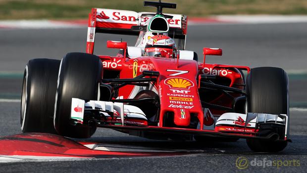 Kimi-Raikkonen-Ferrari-ahead-of-Russian-Grand-Prix